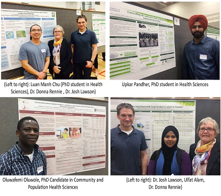CCHSA graduate students attend the 2017 Life and Health Sciences Research Expo