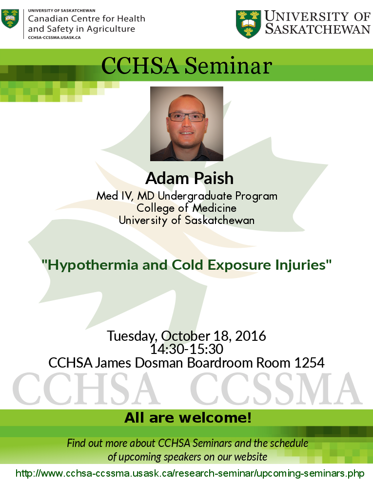 Weekly Seminar: Hypothermia and Cold Exposure Injuries