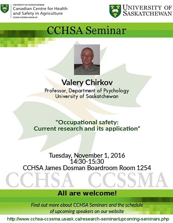 Weekly Seminar: Occupational Safety: Current Research and its Application